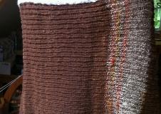 Desert Sunset 2 poncho, alpaca, merino, baby alpaca zijde, € 320,--