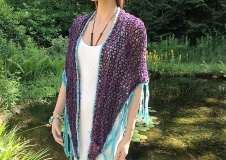 Violet Contemplation 1, shawl € 100,--