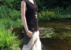 Classy Lady 1 dress, alpaca, Wensleydale curls