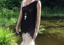 Classy Lady 4 dress, alpaca, Wensleydale curls