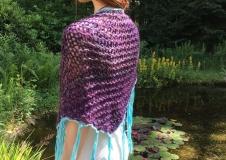 Violet Contemplation 2, shawl € 100,--